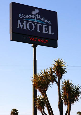 Exterior Sign for The Ocean Palms Motel